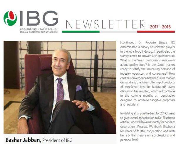 Italian Business Group (IBG) - Newsletter