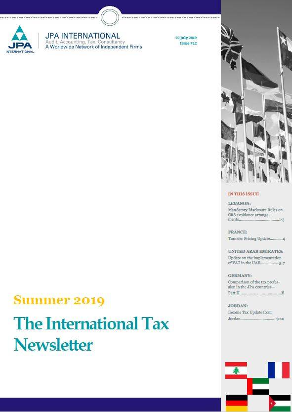 JPA International -The International Tax Newsletter Summer 2019